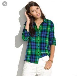 Madewell plaid boyfriend fit shirt 1366